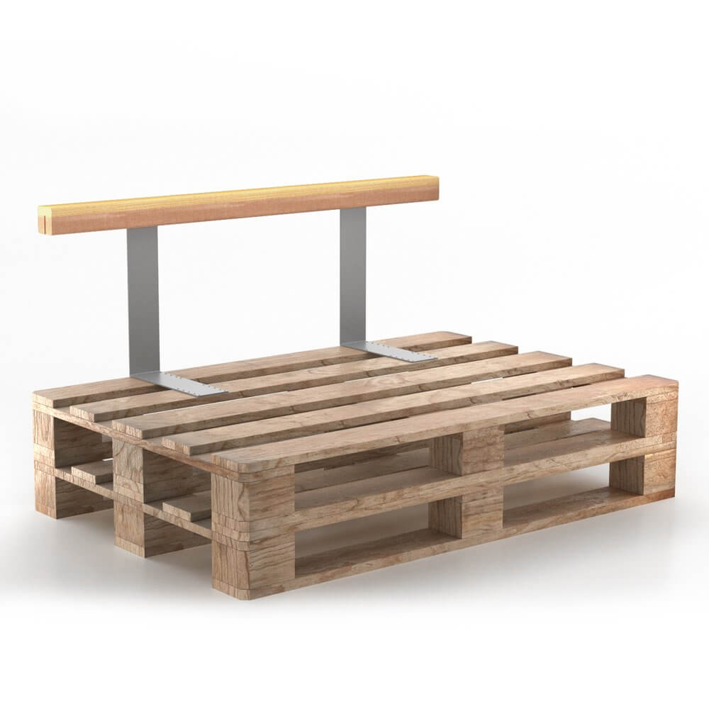 Vicco – Rückenlehne aus Holz für Palettensofa in Anthrazit