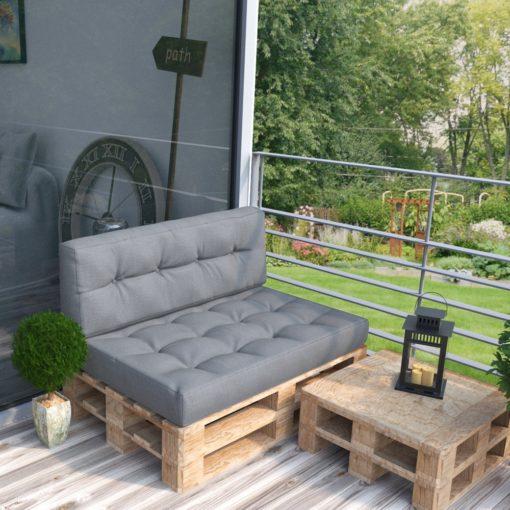 Holzlehne für Palettensofa 110cm - Anthrazit