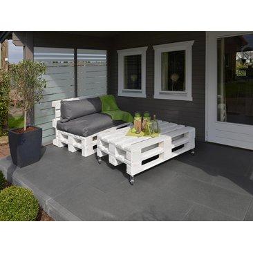 Möbelpalette Weiß 13 cm x 80 cm x 120 cm
