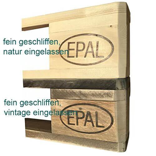 Palettenmöbel Wandregal, Küchenregal, Gewürzregal Kailua aus ippc zertifizierten Europaletten, jedes Teil ist einzigartig und Wird in Deutschland in Handarbeit Gefertigt