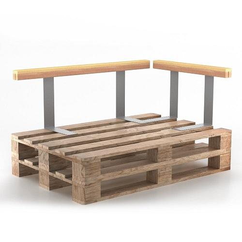 Holz-Sofalehnen-Set