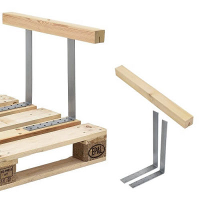 [en.casa] Armlehne für Euro-Paletten-Sofa Massiv Holzoptik DIY Möbel