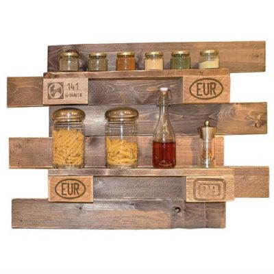 Wand-/Küchen-/Gewürzregal aus Paletten