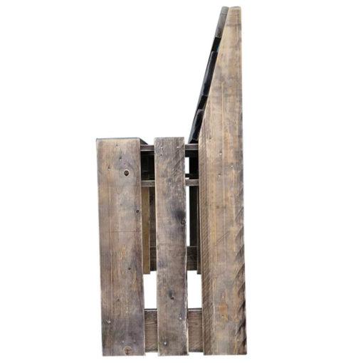 Paletten-Sitzbank mit Lehne