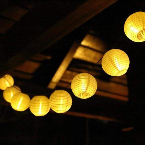 Solar Lampion-Lichterkette