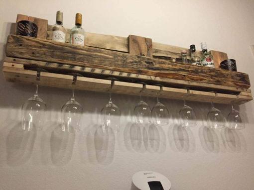 Flaschen-/Wein-/Gewürzregal aus Europaletten