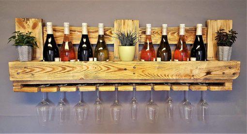 Flaschen-/Wein-Regal aus Europaletten